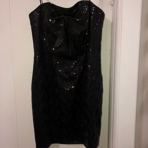 ABS Sequin Ruched Dress
